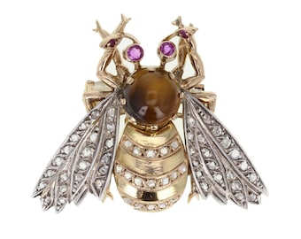 Antique Bumble Bee Brooch