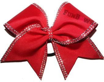 Fabulous Rhinestone Allstar Cheer bow by FunBows !