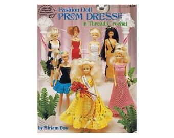 Fashion Doll Prom Dresses in Thread Crochet by Miriam Dow