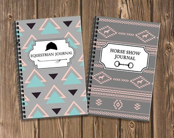 Stylish Equestrian Journal Bundle: Document your training and horse show results with these two coordinating spiral notebooks