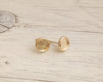 Gold earrings, post earrings, simple earring, stud earrings, everyday earrings, gold filled D48