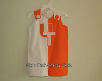Split Orange /White Jon Jon with UT Applique