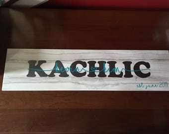 Ceramic tile name sign