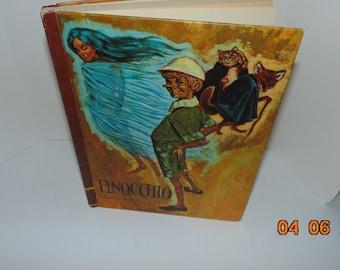 Vintage Pinocchio book 1968 Carlo Collodi Educator Classic Library Volume 3