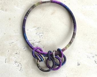 Textile Collar Necklace Alpine