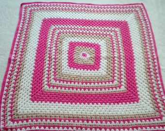 Granny square snuggle blanket