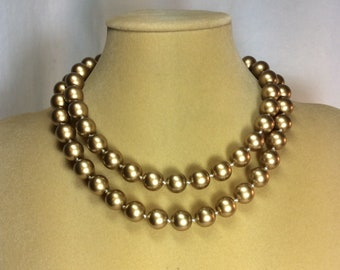 Pretty Gold Vintage Hand Knotted Pearls
