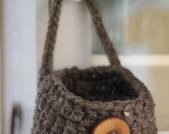 Crochet Pattern Doorknob Hanging Basket THE BROOKLINE storage