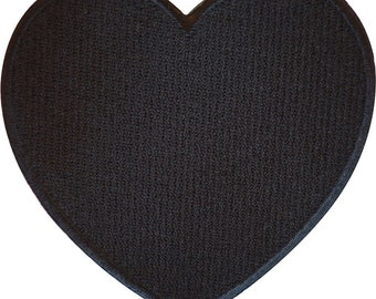 Embroidered Iron On Black Love Heart Patch Sew On Badge Romantic Gift Present