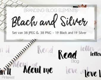 Branding blog elements - Black & Silver