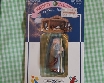 Vintage Fibre Craft Nativity Collection Shepherd Figure, Design by Cecilia Determan, Christmas Creche Figurine Older Shepherd