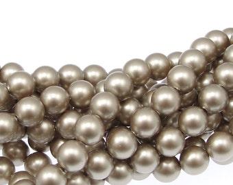 PLATINUM 6mm Swarovski Pearls - Swarovski Crystal Pearls - 5810 6mm Pearls - Neutral Beige Pearl Beads - Swarovski Beads