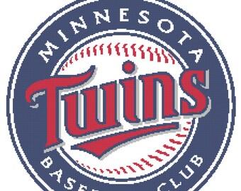 Minnesota Twins -- Counted Cross Stitch Chart Patterns, 3 sizes!