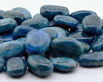 Blue Apatite Tumbled Gemstone - Stone for the Spiritual