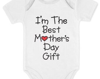 I'm the Best Mother's Day Gift Baby Short Sleeve Onesie Bodysuit