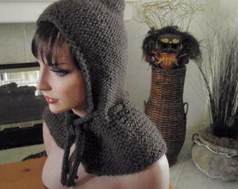 Hooded Capelet Collection  -  Rich Brown