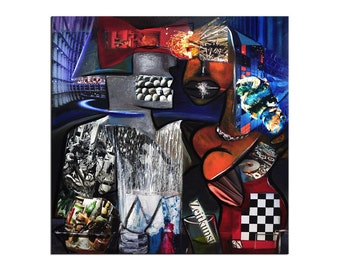 """Acrylic, abstract painting, Original Art by KN: """"ZEITKUNST"""", Gallery of modern & contemporary  Art The Artmakers"""