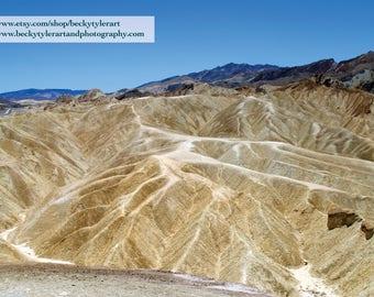 Zabriskie Point, Death Valley National Park, Fine Art Photo Print