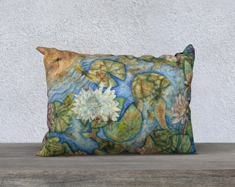 Koi Pond Pillow Cover