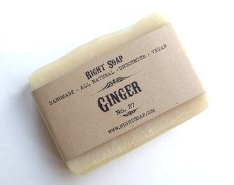 Ginger Soap - Handmade Soap - Soap - Vegan Soap - Natural Soap - Bar Soap - All Natural Soap - Handcrafted Soap - Ginger - Cold Process Soap