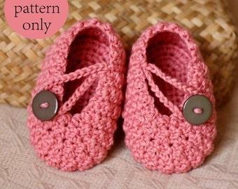 Crochet PATTERN - Pretty in Pink Baby Booties