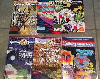 Quilting Quarterly magazine from NQA, Summer 2012 - Fall 2015, 6 issues.