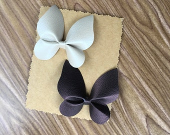 Faux Leather BOW SET