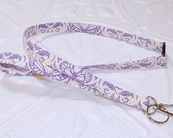 Lavender Breakaway Safety Lanyard - Badge Holder - Key Lanyard - Teachers Gifts - Cute Key Chain - Lanyard With Id Holder - Id Holder