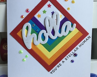 Holla Encouragement Greeting Card