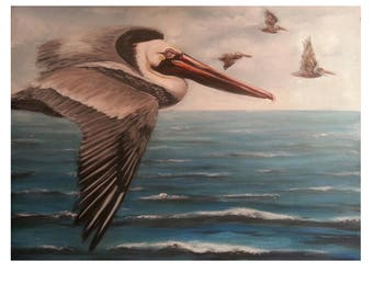 "8"" x 10"" Brown Pelican Print"