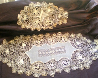 Antique (Over 100 Years Old) Drawn Thread Doilies**Amazing Detail**