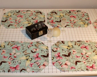 Reversible Butterfly/Flower Placemats (Set of 6)