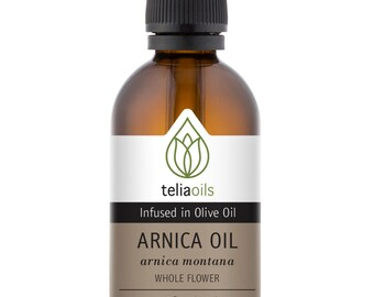 Arnica Oil, Muscles pain, Wounds Bumps and Bruises ( Macerated oil ) 3.33 fl. oz / 100 ml