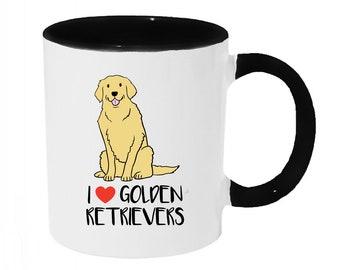 I love Golden Retrievers Coffee or Tea 11oz Mug - Perfect Gift for Dog Lovers