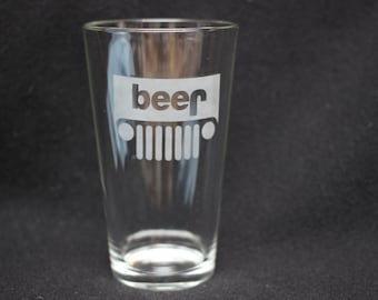 Jeep Beer Pint Glass