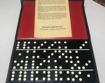 Vintage Crisloid Plastics Domino Set