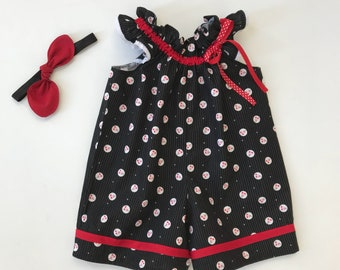 Cherry romper, Romper for girls, Baby Cherry Blossom Romper, Spring Romper, Girls Summer Outfit
