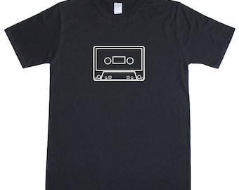 Cassette Tape Old Skool Retro Cult Music Mens Loose Fit Cotton T-Shirt