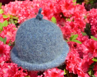 Hand Knit Felted Baby Hat.