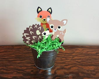 Woodland Animal Centerpiece, Woodland Baby Shower, Woodland Birthday Party, Baby Shower Centerpiece, Baby Room Decor, Woodland Party Decor