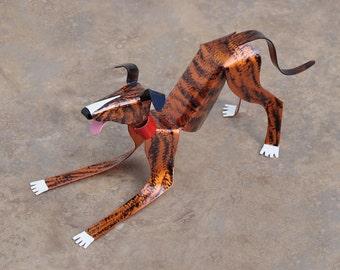 Custom Greyhound Dog Sculpture Handmade Copper Miniature Collectible Art, Greyhound Art, Greyhound Figurine, Dog Art