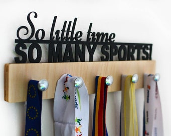 So little time So many Sports Medal Holder,Sport Medal Holder,Medal Display,Sport Gift,Custom Medal Holder,Sport Gift, Sport Medal Hanger