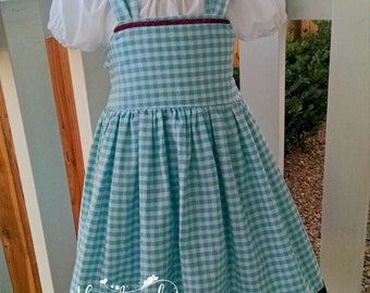 Wizard of Oz Dress - Dorothy Dress - Character Inspired Dress - Costume - Sizes 6/12 months through 10
