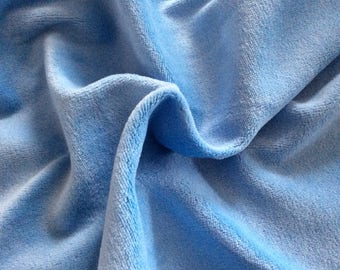50 cm * 50 cm fabric light blue soft jersey