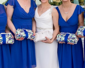CUSTOM bridesmaids clutches, bridesmaid gift, wedding accessories, personalized gift, mother clutches, starting at 48.00 each.