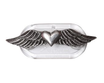 Pewter Winged Heart Magnetic Eyeglass Holder