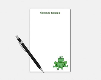 Personalized Frog Notepad - Frog Notepad - Personalized Notepad - Stationery for Her - Custom Frog Notepad