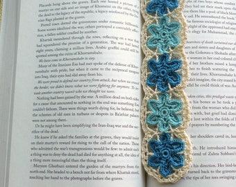 Crochet Lace Bookmark — Doily Flowers
