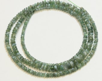 2.3mm-4.2mm Natural Cats Eye Alexandrite Smooth Rondelles Beads 16 inch Strand