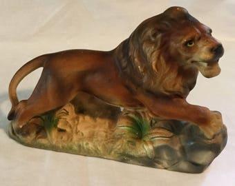 Vintage Made in Japan Ceramic Lion Figurine